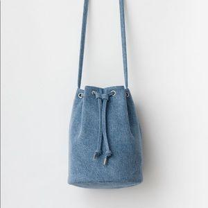 Baggu Denim Crossbody Bucket Bag